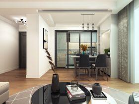90平米三室两厅现代简约风格餐厅装修图片大全