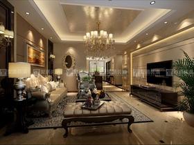 富裕型140平米四室两厅现代简约风格客厅装修效果图