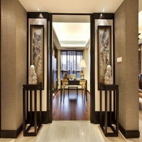 富裕型130平米三室两厅中式风格书房欣赏图