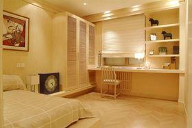 富裕型110平米三室一厅现代简约风格卧室设计图
