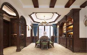 140平米四室兩廳美式風格餐廳圖