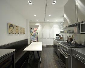 100平米北欧风格厨房装修案例