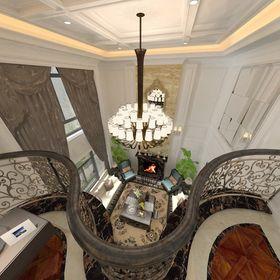 20万以上140平米别墅法式风格客厅装修效果图