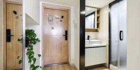80平米公寓混搭风格玄关欣赏图