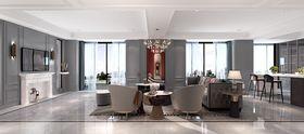 140平米四美式风格餐厅效果图