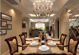 130平米三室两厅欧式风格餐厅欣赏图