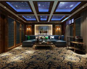 140平米复式欧式风格影音室设计图