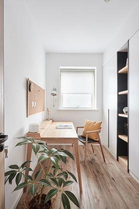 90平米三室一厅混搭风格书房图片