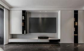140平米三室一廳現代簡約風格客廳設計圖