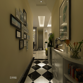 140平米三室兩廳現代簡約風格走廊欣賞圖