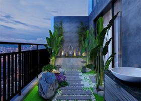 140平米复式现代简约风格阳光房设计图