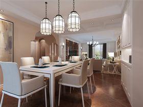 120平米三室两厅美式风格餐厅图片