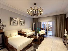 130平米三中式風格客廳設計圖