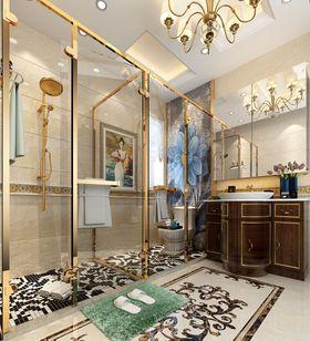 140平米別墅美式風格衛生間圖片