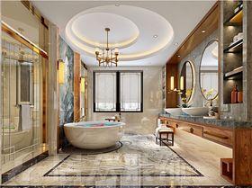 140平米別墅中式風格衛生間裝修圖片大全