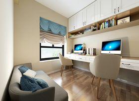 90平米三室兩廳現代簡約風格書房效果圖