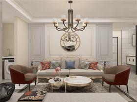 80平米三美式風格客廳裝修案例