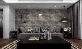 90平米現代簡約風格客廳圖