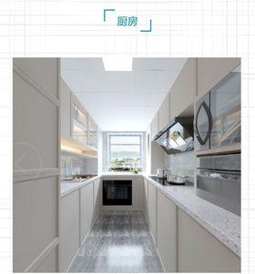 70平米美式風格廚房圖片