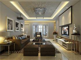 富裕型120平米现代简约风格客厅欣赏图