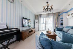 110平米三室一厅地中海风格客厅装修图片大全