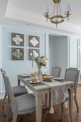 100平米三室一厅美式风格餐厅图片大全