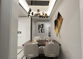 140平米三室一厅现代简约风格走廊效果图
