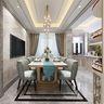 120平米三室两厅欧式风格餐厅装修图片大全