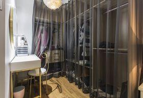 110平米三室兩廳現代簡約風格衣帽間鞋柜設計圖