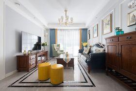 100平米三室两厅美式风格客厅装修图片大全