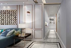140平米三室一厅美式风格玄关装修案例