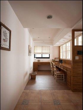 经济型110平米三室两厅田园风格书房装修图片大全