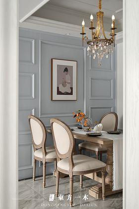 豪华型80平米三室两厅法式风格餐厅图片