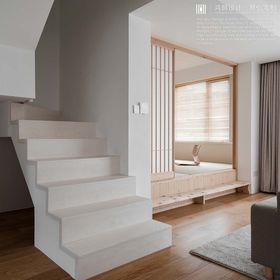 140平米復式日式風格樓梯間設計圖
