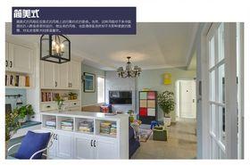 5-10万130平米三室两厅美式风格客厅装修效果图