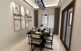 130平米三室两厅中式风格餐厅设计图
