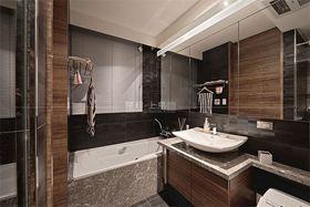 130平米三室一厅日式风格卫生间图片