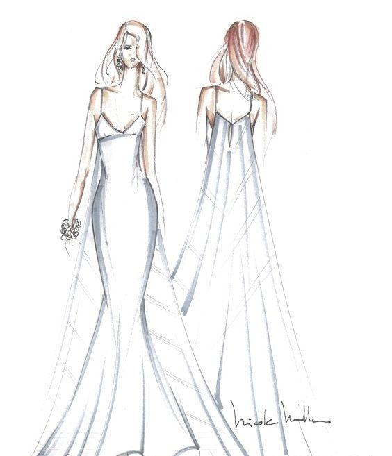 手绘婚纱图曝光,把握机会定制自己的专属美纱,不仅与众不同,而且高端
