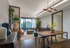 100平米三室一厅现代简约风格餐厅图