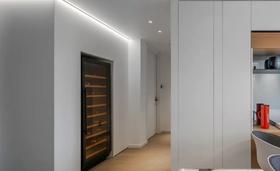 110平米三室兩廳現代簡約風格走廊圖