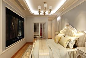 120平米三室兩廳北歐風格臥室欣賞圖