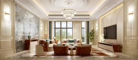 140平米别墅法式风格客厅图片大全