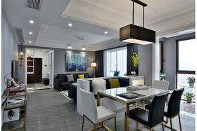 110平米三室两厅现代简约风格餐厅图片