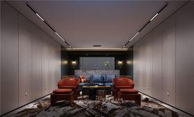 140平米别墅现代简约风格影音室图片