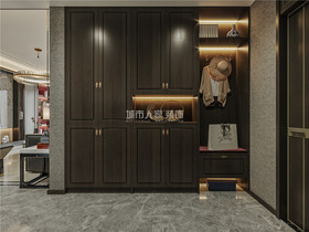 130平米三室两厅新古典风格衣帽间装修图片大全