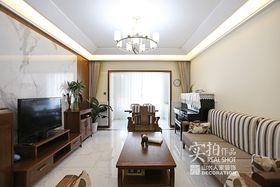 90平米三室两厅中式风格客厅效果图