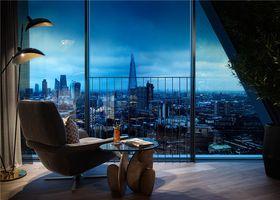 130平米三室一厅北欧风格阳台装修效果图