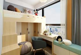 70平米三室两厅北欧风格儿童房欣赏图