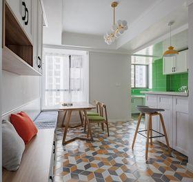 80平米三室两厅现代简约风格餐厅图片