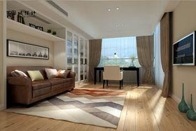 富裕型140平米复式现代简约风格书房设计图